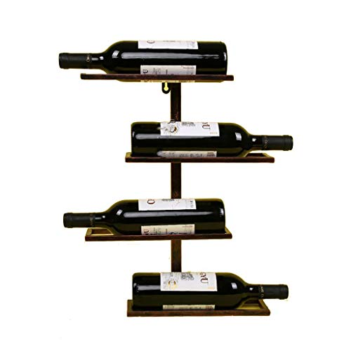 MXXJJ Weinregal zur Wandmontage Wand Weinschrank Wand Weinregal Wandbehang Ausstellungsstand Weinschrank Weinkeller Bar Lagerregal Regal Mehrere Flaschen Lagerregal (Color : Bronze, Size : 45 * 35CM)