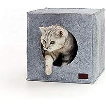 PiuPet Cama de Gato by Incl. cojín | Casa de Gato Adecuada para IKEA Kallax