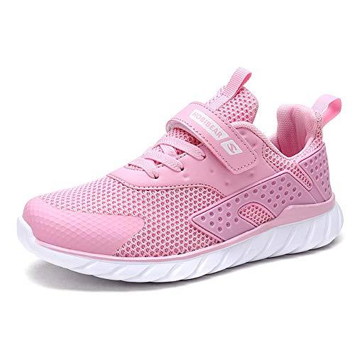 populalar Turnschuhe Kinder Sneaker Jungen Sportschuhe Mädchen Hallenschuhe Outdoor Laufschuhe Für Unisex-Kinder Rosa 26 EU (Kinder Rosa Sneaker)
