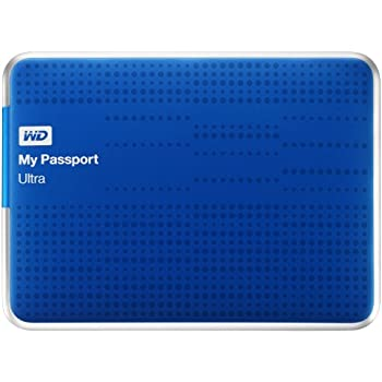 WD My Passport Ultra externe Festplatte 1TB (6,4 cm (2,5 Zoll), USB 3.0) blau