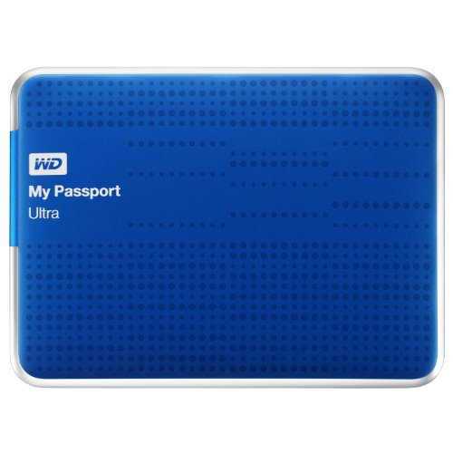 Western Digital My Passport Ultra - Disco duro externo de 1 TB, azul