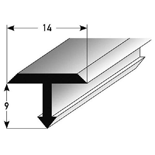 Preisvergleich Produktbild **TOPSELLER** T-Profil für Übergänge,  Montageprofil / Bauprofil,  14 x 5 mm,  aus Aluminium,  Silber