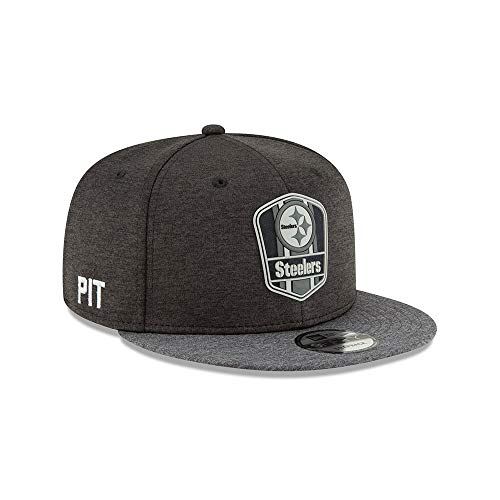 New Era Pittsburgh Steelers 9fifty Snapback NFL 2018 Sideline Graphite Graphite - S-M