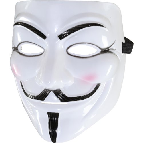 PARTY DISCOUNT Maske Anonymous, weiß