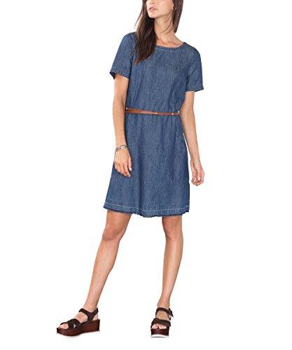edc by ESPRIT Damen Kleid 086CC1E026, Blau (Blue Dark Wash 901), 34 (Herstellergröße: XS)