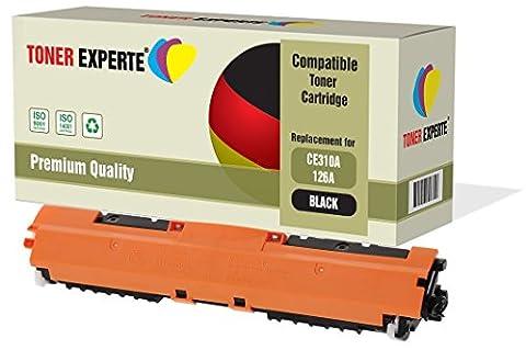 TONER EXPERTE® Schwarz Premium Toner kompatibel zu HP 126A CE310A für HP Colour Laserjet CP1025 CP1025nw CP1020 M175a M175nw Pro 100 M175 MFP M175a M175nw M275 TopShot