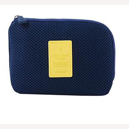 Travel Organiser Digital Storage Pouch Bag kit portable gadget usb cable make upSMALLDutch Navy  available at amazon for Rs.315