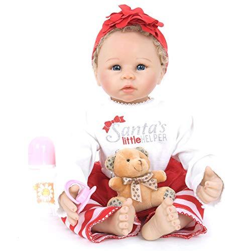 0e39380e iShinè_Toy 55 cm muñeca Reborn Simulation bebé muñeca réaliste Juguetes muñecas  Reborn (Silicona accompagnant para
