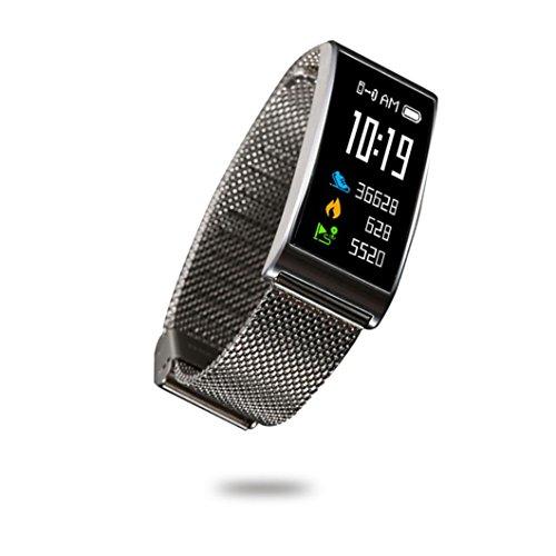 IP68 Imperméable à l'eau Podometre Écran Couleur Fitness Tracker d'Activité Cardiofréquencemètre (Compteur de Pas, Calorie, Distance, Sommeil,Sports, Notification, Alarm, Multilingue)