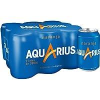 Aquarius - Bebida Con Sabor De Naranja - Paquete de 9 x 330 ml - Total: 2970 ml