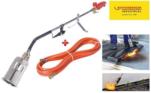 Rothenberger Industrial 4000872018 Anwärmbrenner 030955E inkl. 5m Schlauch-Unkrautvernichter-Dach-& Bitumenbahnen