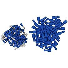 + 100 Flachsteckhülsen rot// blau Steckmaß 6,3 für Kfz