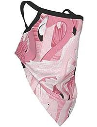 Akhy Boy\'s Pink Flamingos Pattern Bandana Cloth Child Face Mask Washable Face Covering Neck Gaiter Girl\'S Dust Mask