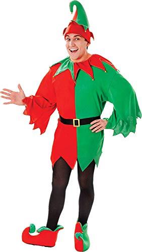 Helfer Kleiner Santas Kostüm - Erwachsene Weihnachten Verkleidung Kostümparty Santa Kleine Helfer Elfen Komplettes Kostüm
