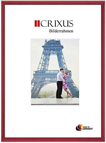 Crixus23 Cornice in per vero legno per in immagini 76 x 38 cm Coloreeee  rosso spazzolato, massello realizzata su misura con vetro acrilico antiriflesso e parete posteriore in MDF, larghezza telaio  23mm, dimensioni esterne  79,4 x 41,4 cm 9c880c