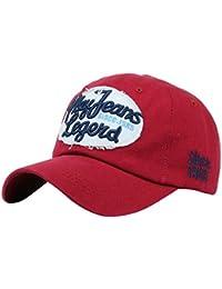 Amlaiworld Gorras Gorras Beisbol béisbol de Mezclilla de Cartas impresión  Unisex Hombre Mujer Snapback Sombrero Plano Hip 756a560a9c0