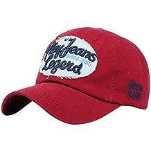 Amlaiworld_Gorras Gorras Beisbol Béisbol de Mezclilla de Cartas Impresión Unisex Hombre Mujer Snapback Sombrero Plano Hip
