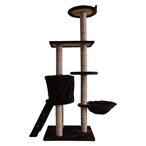 LuckyPet Kletterbaum Kratzbaum mit Treppe Braun Beige Unterhaltung Katze (Cod. LU8041)