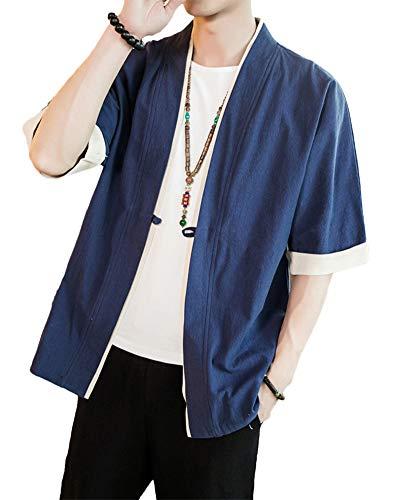 Verano Cloak Cárdigan Kimono Japón Capa Hombres