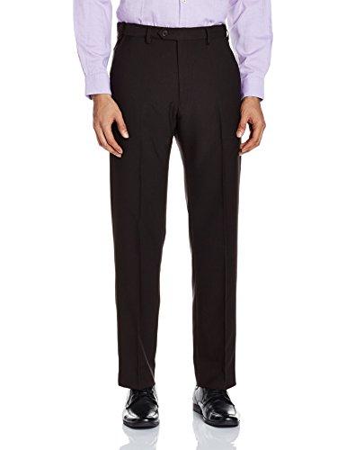 Marks & Spencer Men's Slim Formal Trousers (3210m_Black_32W x 31L)