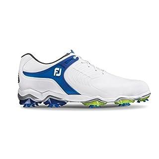 Footjoy Men's Tour-S Golf Shoes, White (Blanco/Azul 55301), 8 UK