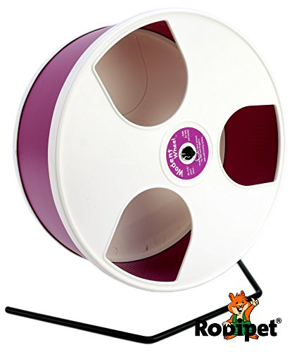 ø 30 cm Hamsterlaufrad Wodent Wheel weiss/purpur