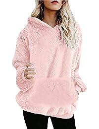 206fec9f57cd0 NINGSANJIN Sweatshirt a Capuche Femme Blouson Gilet Outwear Hiver Chaud  Fourrure Manteau Veste Épaissir Doudoune Coupe-Vent avec…