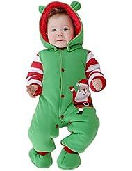 Bebé mameluco Otoño e invierno Equipar+ zapato Ropa de Santa Claus De manga larga Con GudeHome