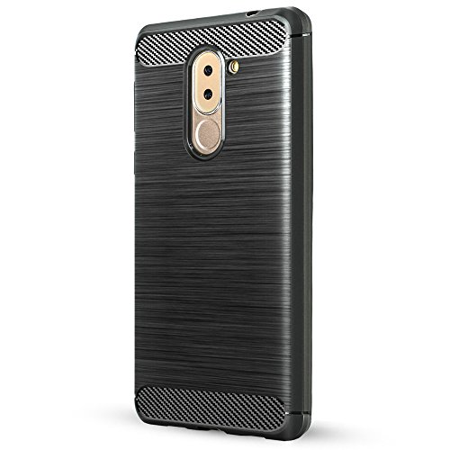 Huawei Honor 6x Coque,Lizimandu Tpu Silicone Gel Étui Housse Protection Shell Cover Case Pour Huawei Honor 6x(Noir/Black) Gris/Grey