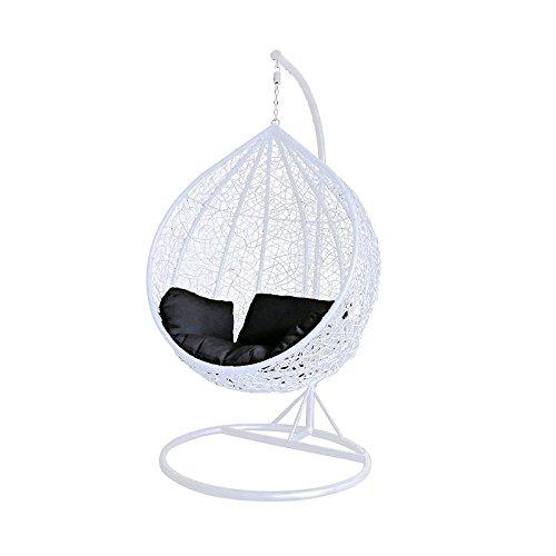 Sale Pro Toolstm Couleur Blanc en rotin Chaise hamac Jardin terrasse à suspendre en osier Tissage meubles