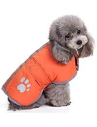 Ropa para Mascotas, Gusspower Ropa de Abrigo Chaqueta Invierno Suéter cálido cómodo Deportiva Traje para Mascotas Gato Perro(Desgaste en Ambos Lados)