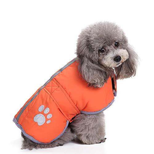 JKRTR Haustierkleidung 2019,Winter Fleece Vest Pet Jacke(Orange,XXXL)