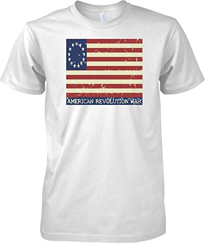 American Revolution - Stars And Stripes Flag - Kids T Shirt - White - 12-13 Years (Flag Confederate T-shirts)
