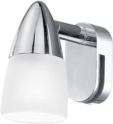 Eglo Spiegelleuchte Modell STICKER / in Stahl chromfarben und satiniertem Glas / HV 1 x G9 40 W / inkl. Leuchtmittel / 5 x 8.5 cm / Ausladung 7 cm von Beco GmbH & Co. KG auf Lampenhans.de