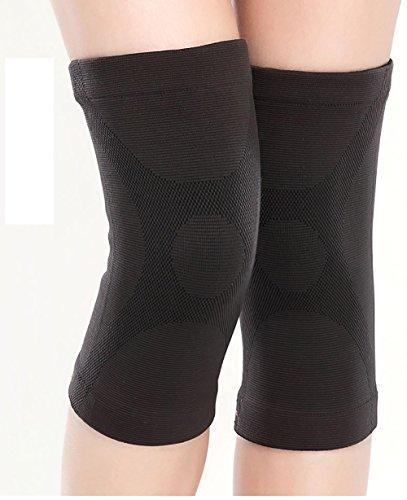 Läufer Kneecap Bein Wärmer Sport Knie Pad Alte Menschen Frauen Mann Kälte-Beweis Vier Jahreszeiten ( Farbe : Schwarz , größe : M ) (Fleece Knee Warmers)