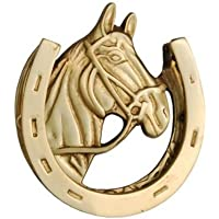Smart Shophar Brass Door Knocker Horse Antique Finish 5 Inches