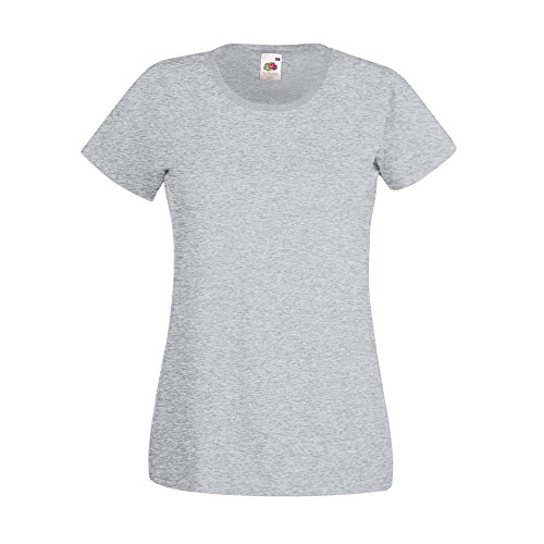 Fruit of the Loom -  Polo  - Donna Heather Grey