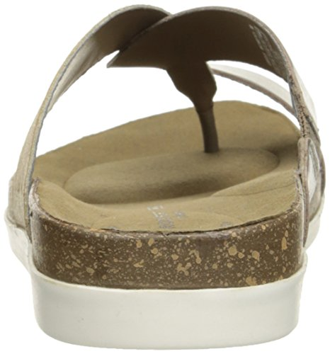 Rockport Romilly Curvy Thong Kunstleder Sandale Grey