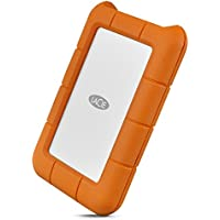 LaCie Rugged - Disco Duro Externo de 2 TB, Color Naranja