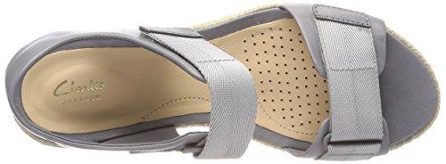 Clarks Palm Shine, Sandales Bride Cheville Femme Gris (Grey Leather)