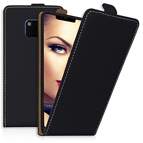 mtb more energy® Flip-Case Tasche für Huawei Mate 20 Pro (6.39'')   Schwarz   Kunstleder   Schutz-Tasche Cover Hülle