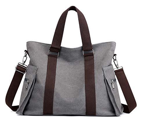 en Canvas Crossbody Bag for Women Multi-Pocket Shoulder Bags Large Tote Geldbörse ()