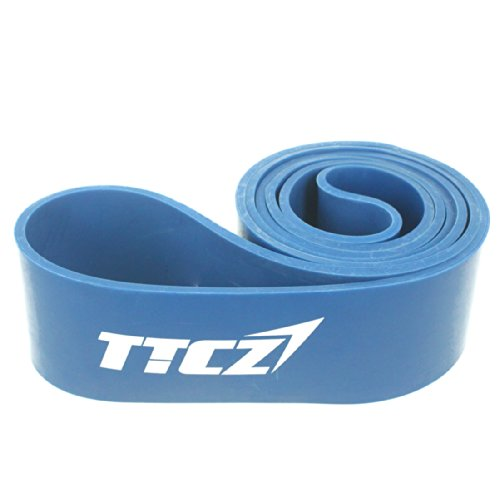 Andux Zone Widerstandsband Resistance Band set Pull Up Bänder Übungsband Premium LaTeX Gummi Loops für Yoga, Pilates, Training, Reha-Sport Physio Gymnastik TLD-02 (blau(65-175lbs)) (Kürzer Bein Langes Körper)