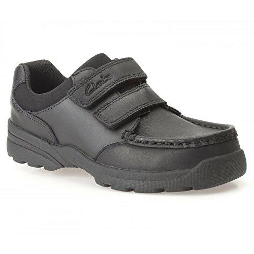 Clarks Go Zayden Inf garçons Smart école chaussure en cuir noir