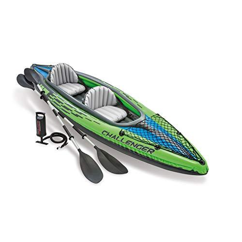 faltboot kajak Intex Schlauchboot Aufblasbares Kajak Boot Challenger K2 Phthalates Free Inkl. 84 Paddel und Luftpumpe, 351 X 76 X 38 cm, 68306NP