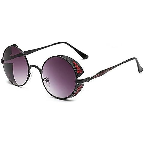 Steam Punk Round Metal Sunglasses Women Circle Lens Round Sun Glasses Men Retro Vintage Glasses Oculos Goggles