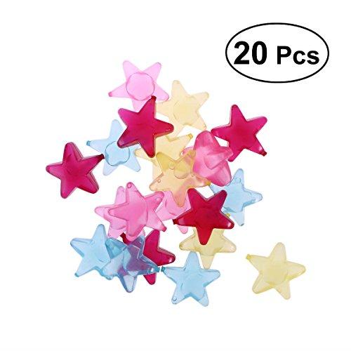 BESTONZON 20 Stück Eiswürfel Dauereiswürfel wiederverwendbare Eiswürfel im Stern Design (Zufällige Farbe)