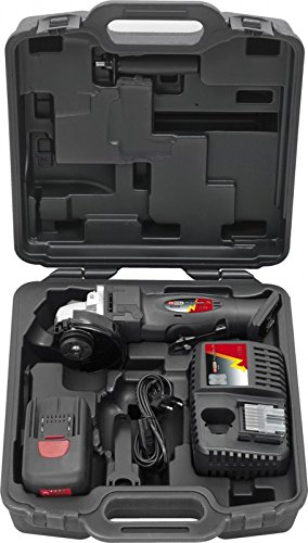KS Tools 515.4111 Akku-Winkelschleifer 7000 U/min mit 2 Akkus und 1 Ladegerät