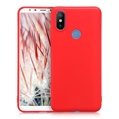 kwmobile Xiaomi Mi 6X / Mi A2 Hülle - Handyhülle für Xiaomi Mi 6X / Mi A2 - Handy Case in Rot Matt - Fundas para teléfonos móviles (Xiaomi, Mi 6X/Mi A2)