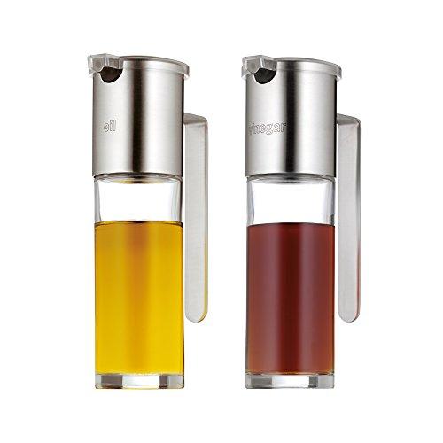 WMF Basic Essig-und Öl-Set, 2-teilig, 120ml, Essigspender, Ölspender mit Aromadeckel und...